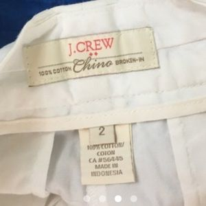 ISO J. Crew White Shorts